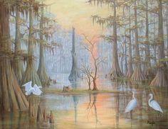 paintings of LA swamps | PiecesofLouisiana.com Fantasy Art