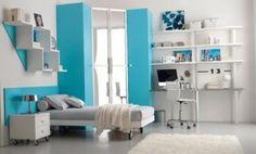 blaue Akzente-Zimmer Jugendliche
