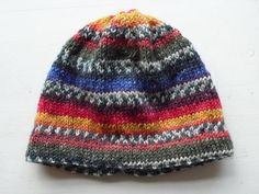 Bloem: muts- tutorial Kids Hats, Children Hats, Free Knitting, Knitted Hats, Projects To Try, Beanie, Crafty, Stitch, Was