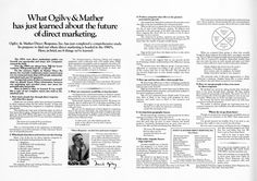 What Ogilvy & Mather has just learned about the future of direct marketing.