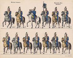 SOLDATINI-DI-CARTA-RECORTABLE-ALEMAN-DE-J-SCHOLZ-MAINZ-Decada-1840