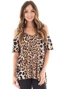 Lime Lush Boutique - Leopard Print Cold Shoulder Scoop Neck Top, $34.99 (https://www.limelush.com/leopard-print-cold-shoulder-scoop-neck-top/)
