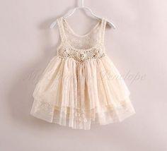 Evangeline vintage inspired crochet lace and tulle toddler dress by MyPrincessPenelope
