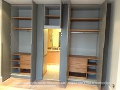 Huge wardrobes with door leading to en-suite