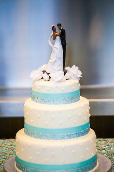 Tiffany Blue And Diamonds Wedding Cakes