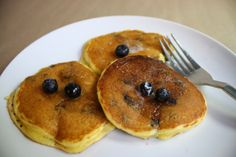 The Hungry Girlfriend | Cornmeal Blueberry Pancakes