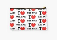 back to school with cool school pouches at:   http://www.redbubble.com/people/ronsho/works/22463606-i-love-tel-aviv?asc=u&p=pouch&rel=carousel  #backtoschool #telavivian #israel #jerusalem #birthright #dldtelaviv #tlv #telaviv #taglit