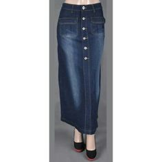bf5e2d655a5 36 Best Long Jean Skirts   Maxi Denim Skirts images in 2019