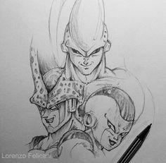 The most powerful villains made by Italian artist Lorenzo Felicani (📷Lorenzofelicani) Boo Majin Boo Kid, Dragon Z, Dragon Ball Gt, Naruto Drawings, Art Drawings Sketches, Dragon Ball Image, Ball Drawing, Anime Tattoos, Kunst