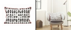 Cojín de algodón orgánico Worn Triangle Cushion de ferm LIVING. Ideal para tu hogar. #decoration, #decoracion, #fermLIVING, #cushion, #cojin, #interiorismo #estiloescandinavo #estilonordico #algodon #organicCotton.