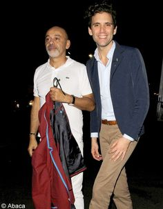 Photo of Christian Louboutin & his friend musician  Mika -