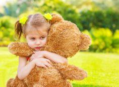 cute kids - little girl - teddy bear - blonde - hug - cuddle - summer -spring - best friend