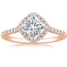 Angara Split Shank Pear Morganite Solitaire Ring with Diamonds 3uCUuLmS