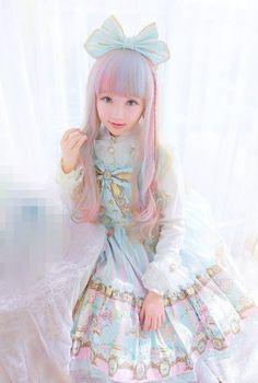 Sweet Lolita - The Sweetest Of All The Lolitas - Sweet Lolita Sweetest - 37 Tokyo Fashion, Japanese Street Fashion, Harajuku Fashion, Kawaii Fashion, Lolita Fashion, Cute Fashion, Rock Fashion, Pastel Fashion, Estilo Lolita