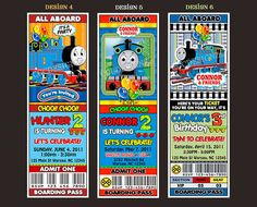 Thomas The Train Birthday Party Ticket by cgcdesignzStudio on Etsy, $14.00