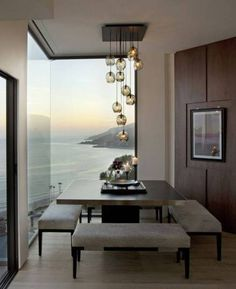 contemporary dining room inspiration - 10 Modern Dining Rooms for Superb Square Dining Table Ideas for a Contem Luxury Dining Room, Dining Room Lighting, Dining Room Design, Dining Rooms, Dining Area, Kitchen Dining, Square Dining Tables, Modern Dining Table, Small Dining