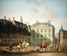 Mauritshuis vanaf Lange Vijverberg - Gerrit Adriaensz. Berckheyde (1638-1698).