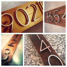Midcentury modern house numbers
