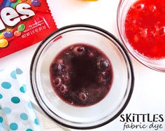 Skittles Fabric Dye (Vinegar + Water + Skittles) #VIPFruitFlavors #Shop