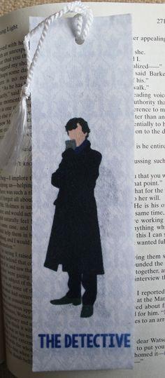 "Sherlock  Detective & Blogger Felt 2x7"" Tasseled Bookmark  @zptduda"