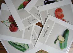 Merci qui ? MERCI MONTESSORI !: Cartes de nomenclature : les fruits et légumes d'été
