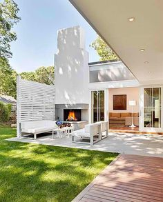Wonderful Outdoor Fireplace Designs