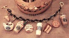 Starbucks Polymer Clay Charm Bracelet DIY on How To Make Friendship Bracelets! #makingbracelets