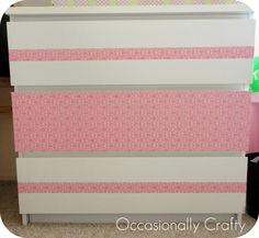 Occasionally Crafty: Simple Makeover- Ikea MALM Dresser