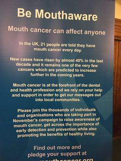 Twitter / Notifications Oral Health, About Uk, Conversation, Cancer, Campaign, How To Get, Activities, Twitter, Day