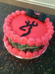 Browning camo birthday cake Cake Craze Pinterest Pink camo