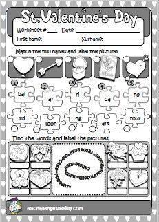 NEW! VALENTINE'S FUN PACK - worksheet http://eslchallenge.weebly.com/valentines-fun-time.html