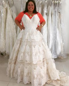 Strapless plus size wedding gowns like this pretty lace one can be made to your preferences.  We make #plussizeweddingdresses that will accommodate a brides personal style and taste.  You can customize one of ours.  Or we canmake a replica of any dress you like in a picture.  Get more info on custom plus size wedding dresses and #replicadesigns when you visit www.dariuscordell.com/