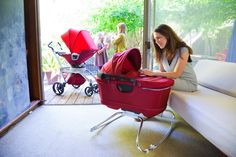 We love how sleek and functional the @Jaco Potgieter Baby Stroller G2 + Bassinet Cradle G2 are! #babygear