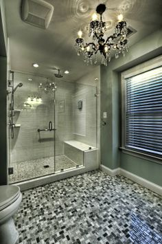 Bathroom in aqua hues. Moss Building and Design.