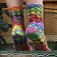Ravelry: Lonely Socks Club: Entrelac Sock pattern by Natalia Vasilieva