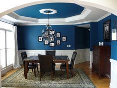 Blue Dining Room...my interpretation!  Sherwin Williams Oceanside paint.