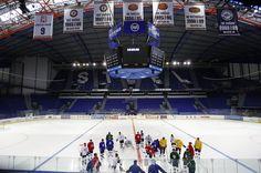 Steel Arena - hockey in Kosice Hockey, Culture, Steel, Game, City, Field Hockey, Gaming, Cities, Toy