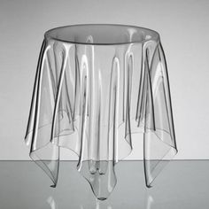 Illusion Side Table, Clear  Bet with a hot air paint remover gun and some plexiglass you could make your own.