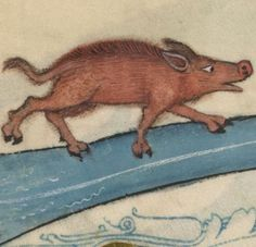 Detail from The Luttrell Psalter, British Library Add MS 42130 (medieval manuscript,1325-1340), f59v