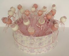 Vintage cake pops for the candy buffet?