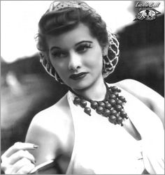 Carroll Bryant: Legends: Lucille Ball--Love the snood and that necklace is awesome!  And that one I could reproduce with no problem...