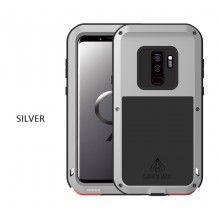 Liebe Mei Samsung Galaxy S9 Plus Fall Metallrahmen Silikon Stoßfest Full Body Back Cover