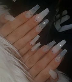 Acrylic Nails Coffin Short, Simple Acrylic Nails, Summer Acrylic Nails, Coffin Nails, Summer Nails, Winter Nails, Pastel Nails, Clear Acrylic Nails, Aycrlic Nails