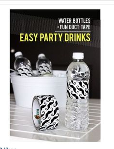 Water bottles + Duct Tape = Easy Party Drink