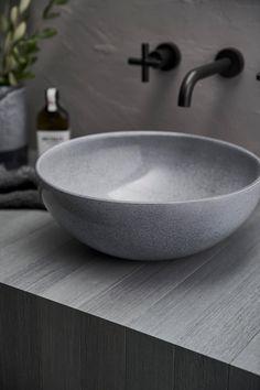 Vanity Basin, Basin Sink, Bathroom Basin, Concrete Basin, Concrete Bowl, Small Basin, Crazy Home, Mid Century Bathroom, Clay Bowl