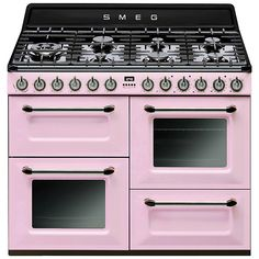 #pink #smeg #cooker #style #home #kitchen #food #cook #colourful #colorful