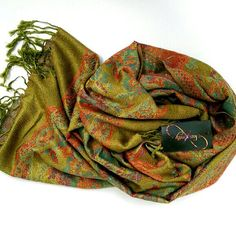 Check out this item in my Etsy shop https://www.etsy.com/listing/271706294/olive-green-pashmina-scarf-mothers-day