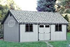 16' X 24' Reverse Gable Backyard Storage Shed Plans #d1624g, Free Material List