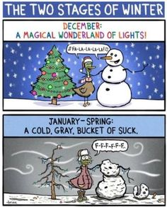 The two stages of winter ...