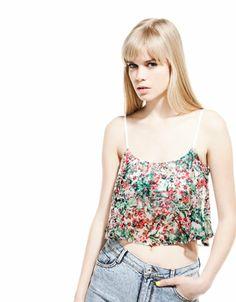 13431cc46920 Bershka Japan - Bershka top with floral print bandeau Floral Prints